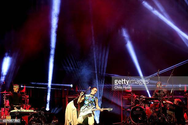 Kirin J Callinan performs during the APRA Awards at Brisbane City Hall on June 23 2014 in Brisbane Australia