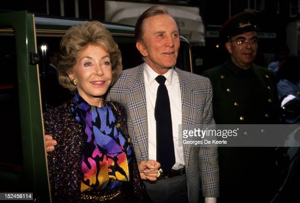 Kirk and Ann Douglas in London on September 28 1988