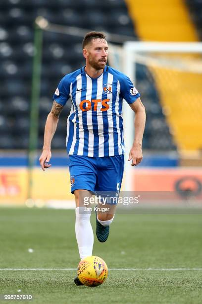 Kirk Broadfoot of Kilmarnock FC during the Betfred Scottish League Cup match between Kilmarnock and St Mirren at Rugby Park on July 13 2018 in...