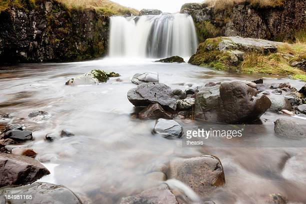 kirk burn waterfall - theasis stock pictures, royalty-free photos & images