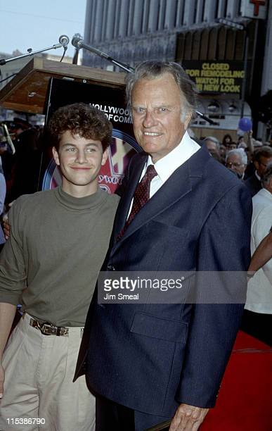 Kirk Cameron and Billy Graham during Billy Graham Honored with a Star on the Hollywood Walk of Fame at 6901 Hollywood Blvd. In Hollywood, California,...