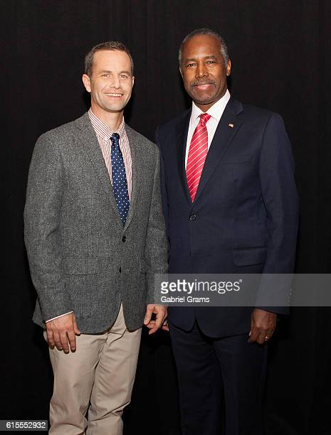 Kirk Cameron and Dr Ben Carson attend Kirk Cameron's Revive Us event at Harvest Cathedral on October 18 2016 in Chicago City