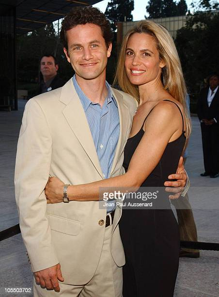 Kirk Cameron and wife Chelsea Noble during 2004 ABC All Star Summer Party at C2 Cafe in Century City California United States