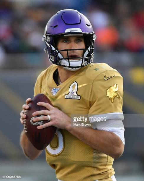 Kirk Cousins of the Minnesota Vikings in action during the 2020 NFL Pro Bowl at Camping World Stadium on January 26 2020 in Orlando Florida