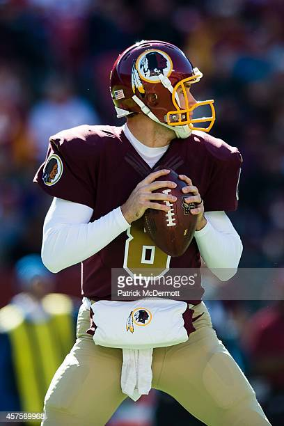 Kirk Cousins of the Washington Redskins drops back to make a pass during the second quarter of their game against the Tennessee Titans at FedExField...