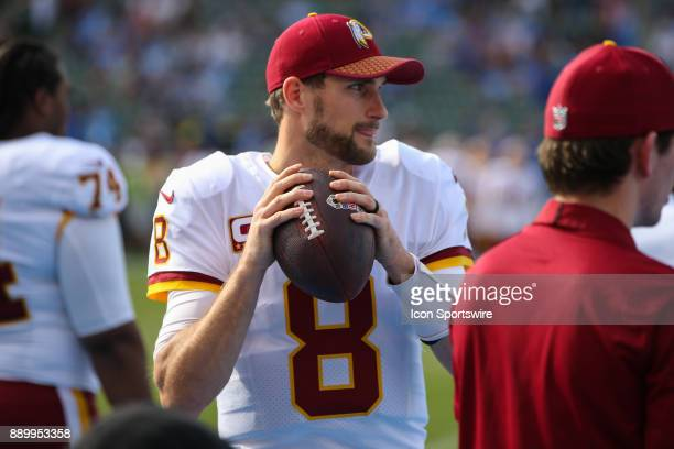 Kirk Cousins of the Washington Redskins during a NFL game between the Washington Redskins and the Los Angeles Chargers on December 10 2017 at the...
