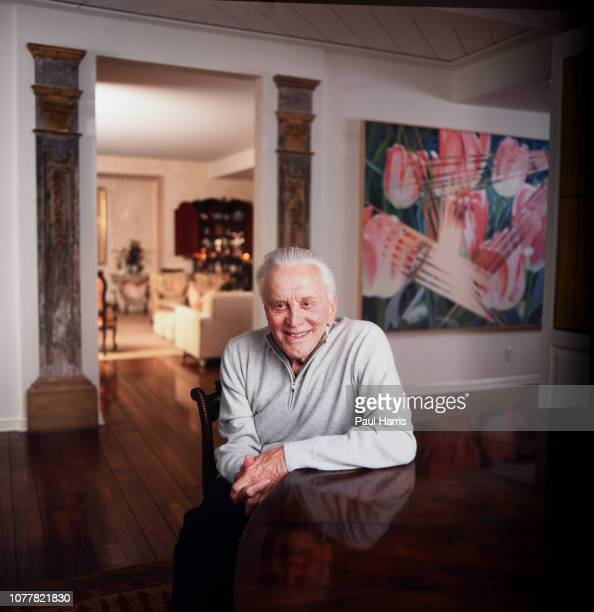 Kirk Douglas, actor, author photographed March 4, 2003 in his home Beverly Hills, Los Angeles, California ,
