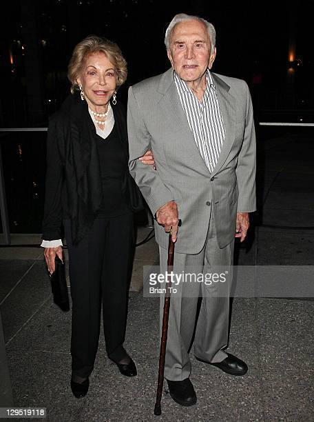 Kirk Douglas and Anne Douglas attend Love Sweet Love musical tribute to Hal David at Mark Taper Forum on October 17 2011 in Los Angeles California