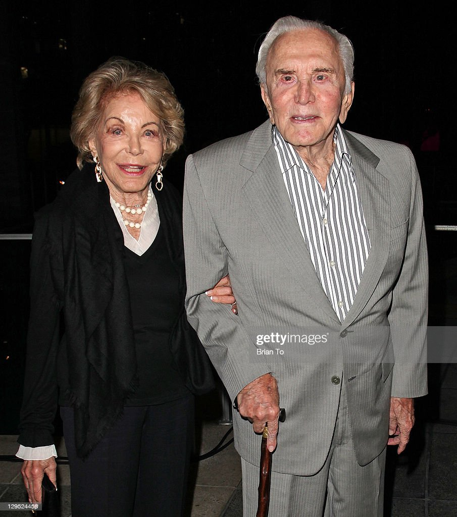 Kirk Douglas (R) and Anne Douglas attend 'Love, Sweet Love' musical tribute to Hal David at Mark Taper Forum on October 17, 2011 in Los Angeles, California.