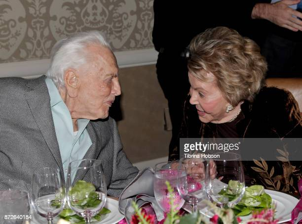 Kirk Douglas and Anne Douglas attend the Los Angeles Mission Legacy of Vision Gala at Four Seasons Hotel Los Angeles at Beverly Hills on November 9...