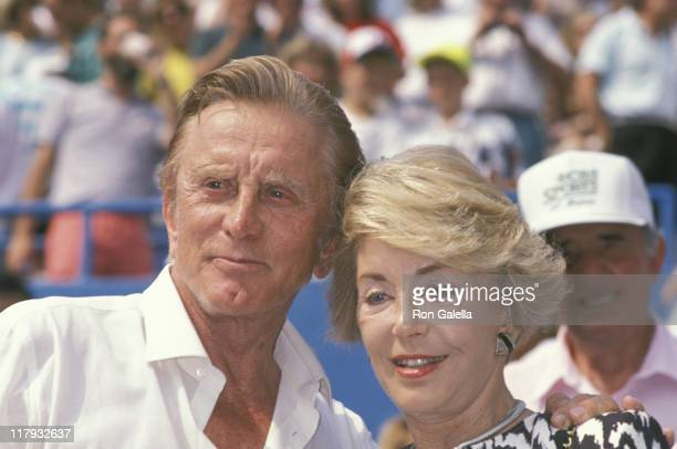 Kirk Douglas and Anne Douglas during 1989 US Open Celebrity Sightings September 9 1989 at Flushing Meadow in Queens New York United States