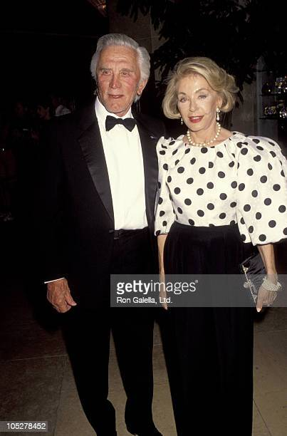 Kirk Douglas and Anne Douglas during 25th Annual Celebration of Center Theatre Group at Beverly Hilton Hotel in Beverly Hills California United States