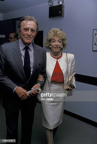 Kirk Douglas and Anne Douglas during Driving Miss Daisy Premiere at Off Broadway Theater in New York City New York United States