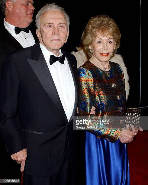 Kirk Douglas and Anne Douglas during Palm Springs International Film Festival Awards Gala presented by Tiffany Co Arrivals at Palm Springs Convention...