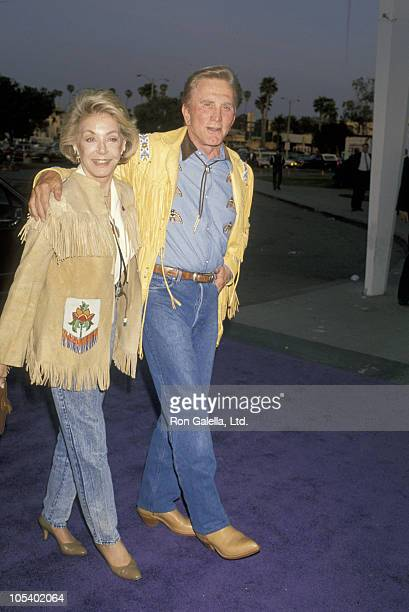 Kirk Douglas and Anne Douglas during Share Boomtown Party at Santa Monica Civic Center in Santa Monica California United States