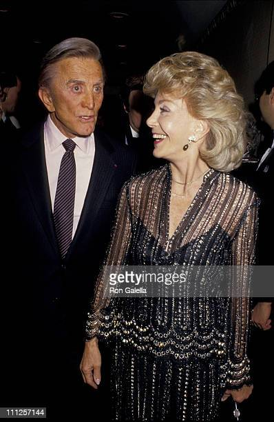 Kirk Douglas and Anne Douglas during The American Academy of Dramatic Arts Tribute to Kirk Douglas at Waldorf Astoria Hotel in New York City New York...