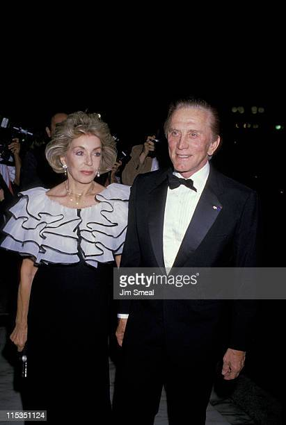 Kirk Douglas and Anne Douglas during The Center Theater Group and The Ahmanson Theater at Century Plaza Hotel in Los Angeles California United States