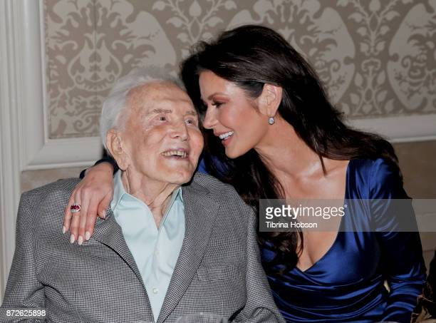 Kirk Douglas and Catherine Zeta-Jones attend the Los Angeles Mission Legacy of Vision Gala at Four Seasons Hotel Los Angeles at Beverly Hills on...