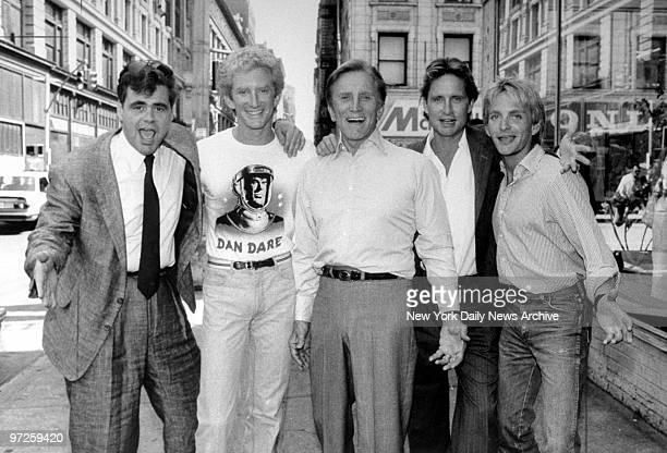 Kirk Douglas and his sons Joel Peter Michael and Eric