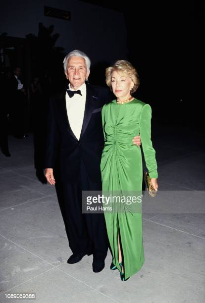 Kirk Douglas and his wife Anne arrive at the 66th Annual Academy Awards March 21 1994 at the Dorothy Chandler Pavilion Los Angeles California