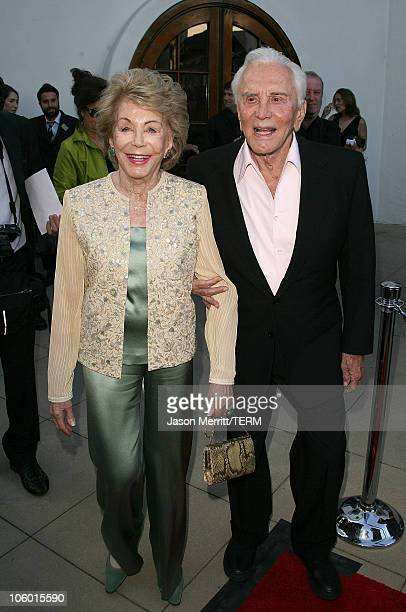Kirk Douglas and wife Anne Douglas during The 2006 Santa Barbara International Film Festival Honors Kirk Douglas at Bacara Resort Spa in Santa...