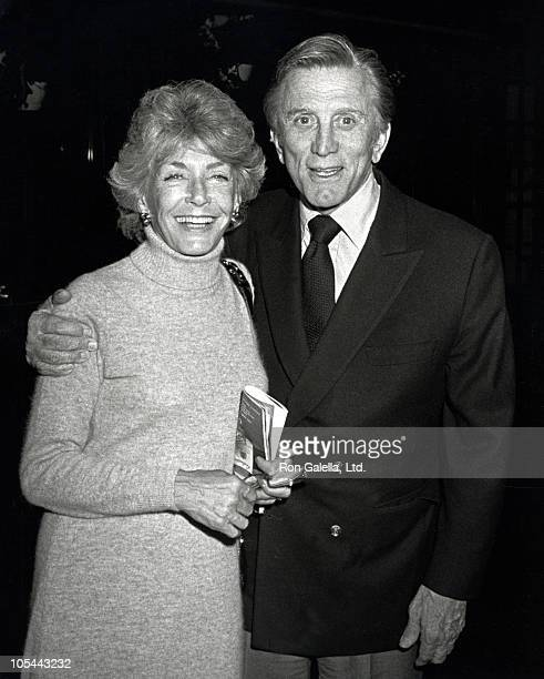 Kirk Douglas and Wife during Kirk Douglas and Wife at Elaine's Restaurant October 27 1981 at Elaines in New York City New York United States