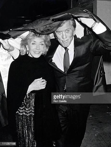 Kirk Douglas and wife during The American Academy of Dramatic Arts Tribute to Kirk Douglas at Waldorf Astoria Hotel in New York City New York United...