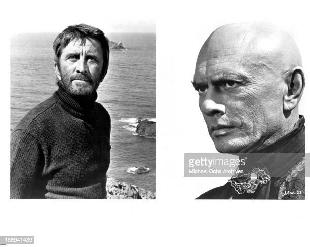 Kirk Douglas and Yul Brynner in various scenes from the film 'The Light At The Edge Of The World' 1971