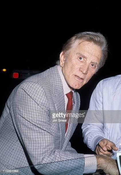 Kirk Douglas during Kirk Douglas at Spago's Restaurant December 12 1985 at Spago's Restaurant in Hollywood California United States