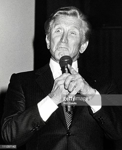 Kirk Douglas during The American Academy of Dramatic Arts Tribute to Kirk Douglas at Waldorf Astoria Hotel in New York City New York United States