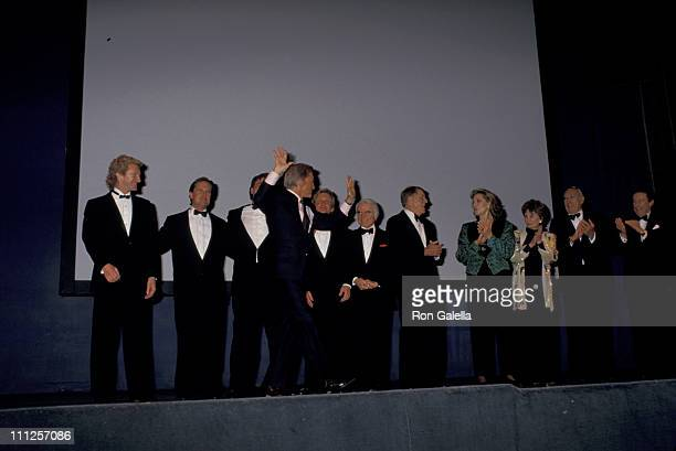 Kirk Douglas Family and Lauren Bacall during The American Academy of Dramatic Arts Tribute to Kirk Douglas at Waldorf Astoria Hotel in New York City...
