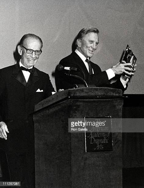 Kirk Douglas Hume Cronyn during The American Academy of Dramatic Arts Tribute to Kirk Douglas at Waldorf Astoria Hotel in New York City New York...