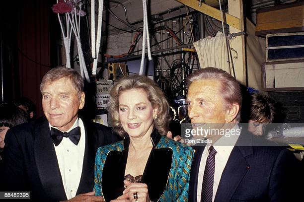 Kirk Douglas Lauren Bacall and Burt Lancaster