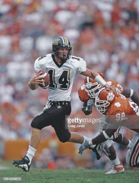 Kirk Farmer Quarterback for the University of Missouri Tigers during the NCAA Big 12 Conference college football game against the Clemson University...