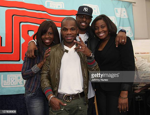 Kirk Franklin and fans at Kirks apperance for his new album Hello Fear at JR Music and Computer World on March 22 2011 in New York City