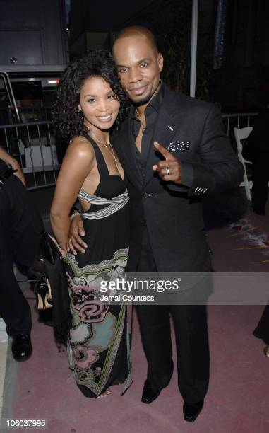 Kirk Franklin and guest during 6th Annual BET Awards Departures at Shrine Auditorium in Los Angeles California United States