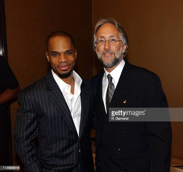 Kirk Franklin and Neil Portnow during The Recording Academy Presents 2005 GRAMMY Salute to Gospel Music at West Angeles Church in Los Angeles...