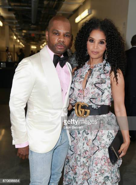 Kirk Franklin and Tammy Collins attend the 2017 Soul Train Awards presented by BET at the Orleans Arena on November 5 2017 in Las Vegas Nevada