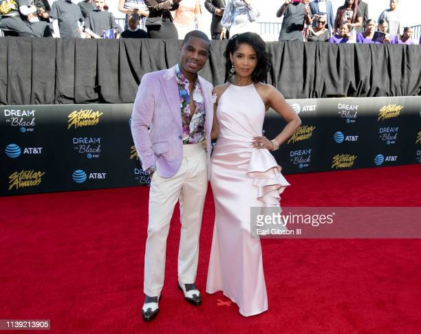 Kirk Franklin and Tammy Collins attend the 34th annual Stellar Gospel Music Awards at the Orleans Arena on March 29 2019 in Las Vegas Nevada