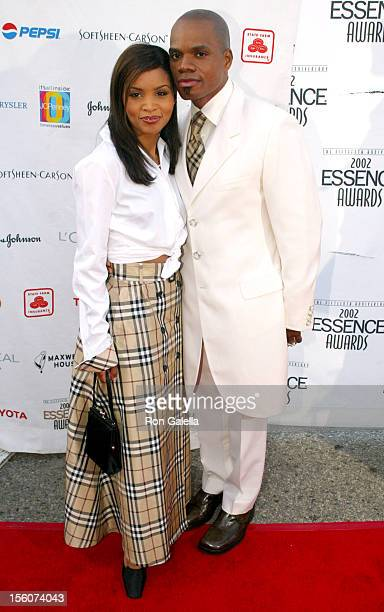 Kirk Franklin and Wife Tammy during 2002 Essence Awards Arrivals at Universal Amphitheater in Universal City California United States