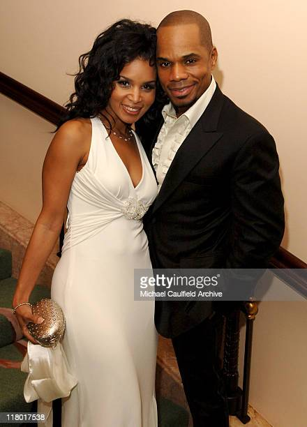 Kirk Franklin and wife Tammy during 2007 Sony/BMG GRAMMY After Party Inside at The Beverly Hills Hotel in Beverly Hills California United States
