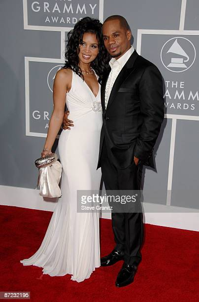 Kirk Franklin nominee Best Contemporary RB Gospel Album for Hero and Best Gospel Song for Imagine Me and wife Tammy Franklin