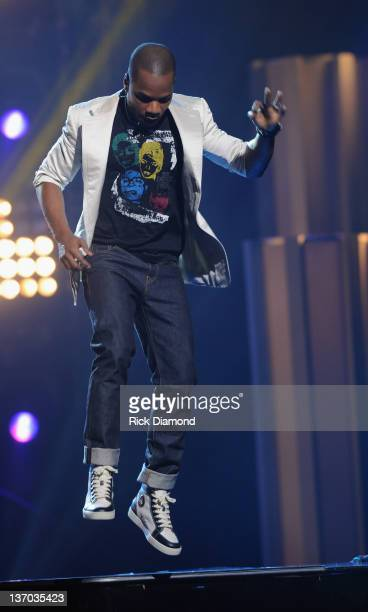 Kirk Franklin performs during the 27th Annual Stellar Awards at the Grand Ole Opry House on January 14 2012 in Nashville Tennessee