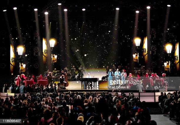 Kirk Franklin performs during the 34th annual Stellar Gospel Music Awards at the Orleans Arena on March 29 2019 in Las Vegas Nevada