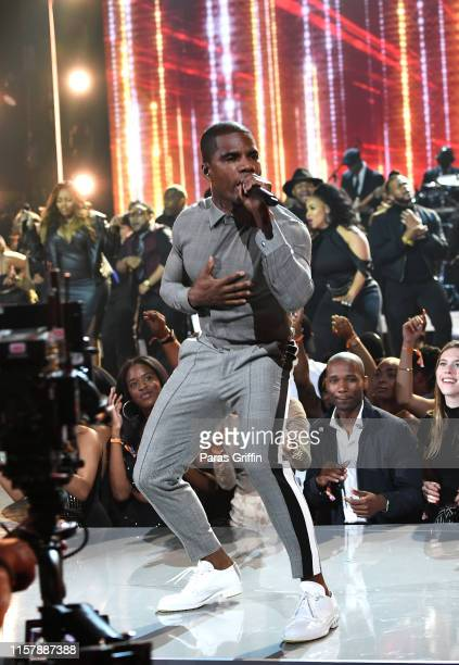 Kirk Franklin performs onstage at the 2019 BET Awards at Microsoft Theater on June 23 2019 in Los Angeles California