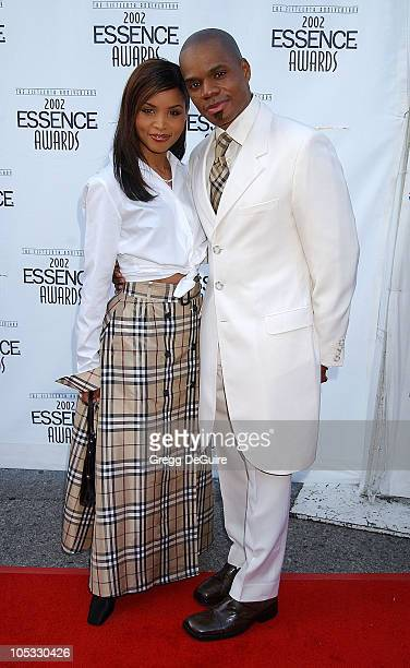 Kirk Franklin wife Tammy during 2002 Essence Awards Arrivals at Universal Amphitheater in Universal City California United States