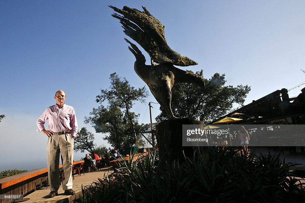Kirk Gafill, owner of Nepenthe, poses in front of his restau : News Photo