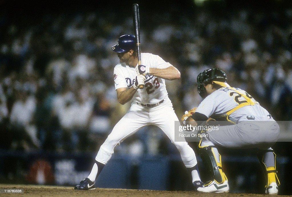 World Series:Oakland Athletics v Los Angeles Dodgers, October 15, 1988 : News Photo