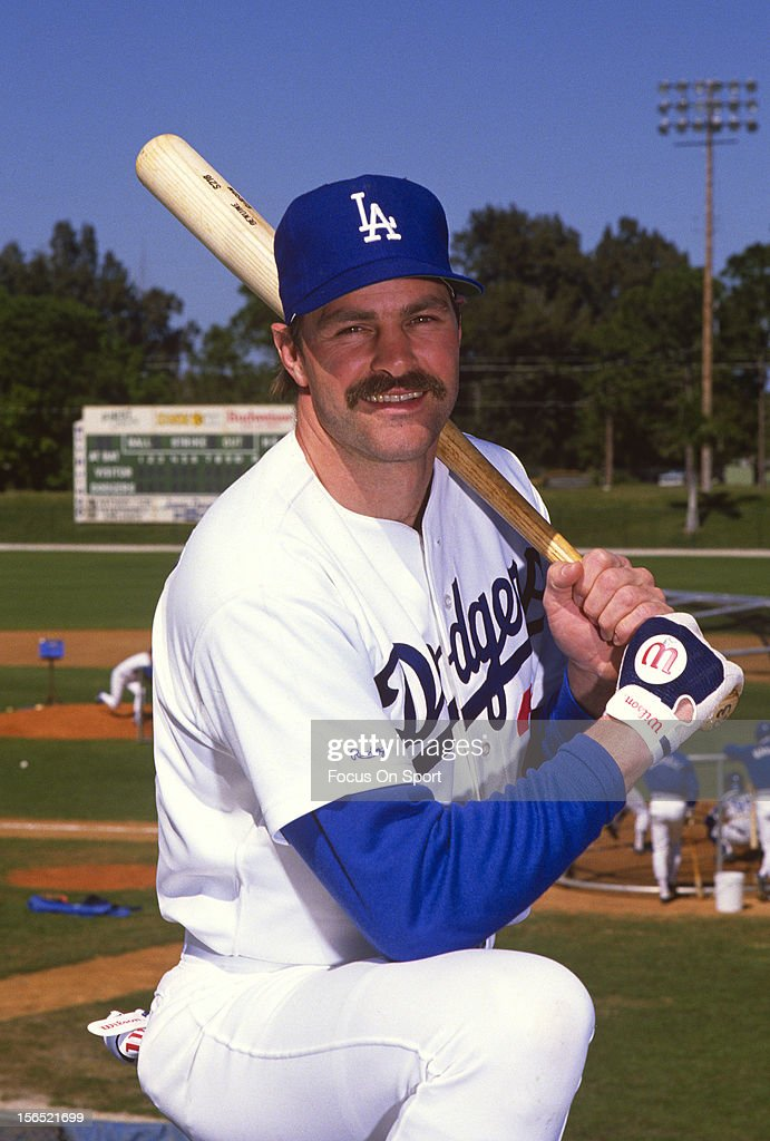 Kirk Gibson #23 of the Los Angeles Dodgers poses for this portrait before a spring training Major League Baseball game circa 1990 at Dodger Town in Vero Beach, Florida. Gibson played for the Dodgers from 1988-90.