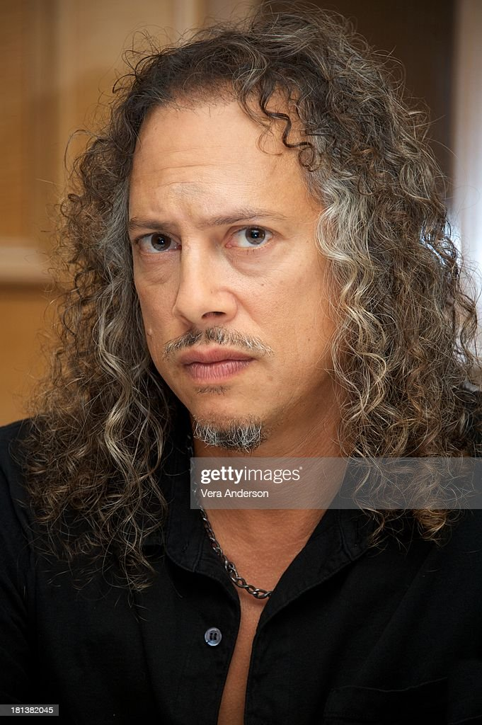 Kirk Hammett at the 'Metallica: Through The Never' Press Conference at the Fairmont Hotel on September 17, 2013 in San Francisco, California.